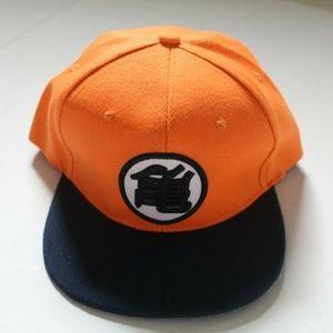 Dragon Ball Z Baseball Hat Orange w/ Drk Blue Brim